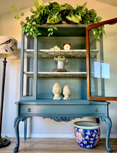 Load image into Gallery viewer, (SOLD) GORGEOUS Newly ReDesigned 1930s FRENCH-VICTORIAN DISPLAY CABINET!! French-Victorian-Farmhouse BEAUTY that will make your Nest SHINE!!