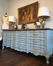 Load image into Gallery viewer, (SOLD) GORGEOUS Vintage Extra-Large High-End W&J Sloane French Provincial Dresser/Buffet/Media/Entryway 79X32X20