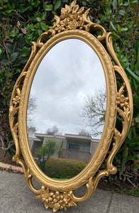 (SOLD) Gorgeous Gold French Floral Entryway Accent Mirror in Excellent Condition. This Decorative Piece is a must-have Beauty!!!