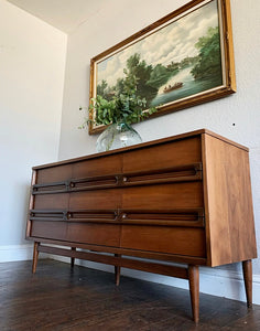 (SOLD) GORGEOUS High-End Bassett Mid Century Modern Danish Dresser/Media/Buffet/Entryway/Credenza/Console/Sofa Table!!