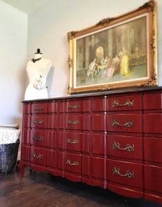 (SOLD) GORGEOUS Vintage High-End Permacraft Dresser/Buffet/Media/Entryway in Excellent Condition!! 64X34X22