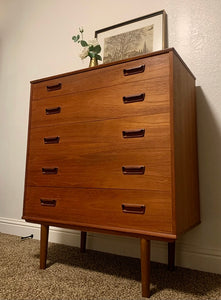 (SOLD) Gorgeous Danish Mid Century Modern Teak Highboy-Chest in Superb Condition!! Beautiful Piece any room in your Nest!!