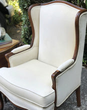 Load image into Gallery viewer, (SOLD) Gorgeous Decorative Vintage Wingback Chair and matching side French Country 3Drawer Chest/Side/End Table with Beautiful Details and Hardware!!