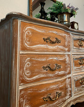 Load image into Gallery viewer, (SOLD) Gorgeous High-End Restoration Hardware inspired Modern French Country  Rustic-White Wash Dresser/Media/Entryway/Buffet with Beautiful Details and Hardware!!