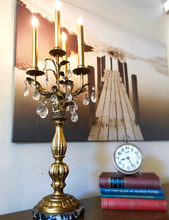 Load image into Gallery viewer, (SOLD) Gorgeous Vintage Victorian Candeleir Table Lamp with Beautiful Design and Excellent Condition!! 30H 13W