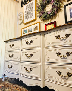(SOLD) Gorgeous High-End Bassett French Country Dresser/Media/Entryway/Buffet/Console with Beautiful Design and Hardware!!