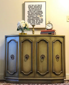 (SOLD) Gorgeous French Modern inspired Entryway/Buffet/Storage with Beautiful Details and Hardware!! 39W 30H 16D