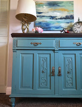 Load image into Gallery viewer, (SOLD) GORGEOUS 1930s Victorian Buffet/Credenza/Entryway/Dreser/Media with Beautiful Details!! 48X38X18