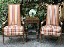 Load image into Gallery viewer, Gorgeous Pair of Vintage French-Victorian Louis XV Accent Chairs with Beautiful Design and Details!!