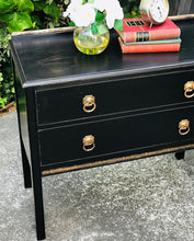Load image into Gallery viewer, (SOLD) Gorgeous 1920s Victorian Decorative Entryway/Corner Piece/Storage/Dresser/Console with Beautiful Details and Hardware!!