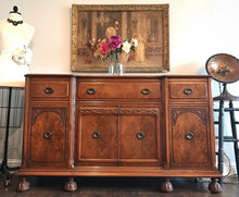Load image into Gallery viewer, (SOLD) GORGEOUS Vintage Jacobean Buffet/Sideboard/Media/Entryway with Beautiful Details!! 62X37X20