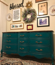 Load image into Gallery viewer, (SOLD) Gorgeous Vintage French Country Dresser/Media/Entryway/Buffet with Beautiful Details and Hardware. Perfect STATEMENT French Piece!!!