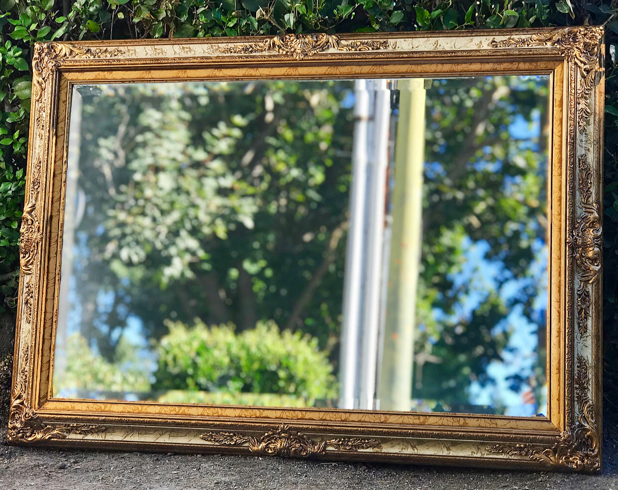 (SOLD) Gorgeous Vintage French-Victorian Decorative/Accent Bevelled Mirror with Beautiful Details!! 44X32