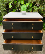 Load image into Gallery viewer, (SOLD) GORGEOUS Mid Century Modern Coffe-Snack Bar Table/Dresser/Nightstand/Side-End Table in Black Beauty!!