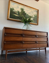 Load image into Gallery viewer, (SOLD) GORGEOUS High-End Bassett Mid Century Modern Danish Dresser/Media/Buffet/Entryway/Credenza/Console/Sofa Table!!