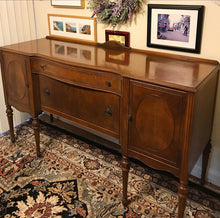 Load image into Gallery viewer, (SOLD) Gorgeous 1940s Victorian Buffet/Entryway/Console/Media with Beautiful Details and Hardware!!