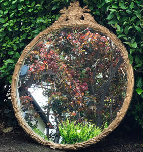 (SOLD) GORGEOUS Antique 1930s Holywood Regency Victorian Mirror with Beautiful Details!! 31W 37H