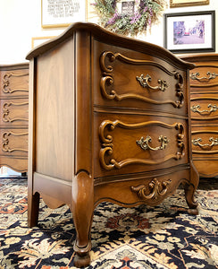 (SOLD) Stunning 1950s 3PC French Country Bedroom Set with Gorgeous Details and Hardware!!! Perfect Versatile BARGAIN BEAUTIES!!!