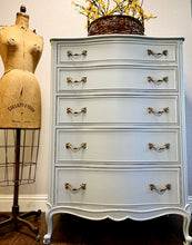 Load image into Gallery viewer, (SOLD) GORGEOUS and Newly ReDesigned High-End Drexel Serpentine French Modern Chest of Drawers in Powder Blue!! Perfect STATEMENT BEAUTY!!!