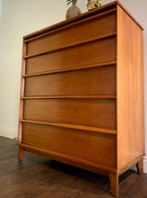 Load image into Gallery viewer, (SOLD) Simply Beautiful Mid Century Modern HighBoy-Chest of Drawers in Superb Condition!! Perfect BARGAIN MCM for Minimalist and Wood Lover!!