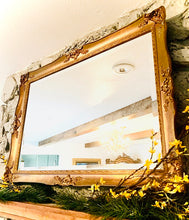 Load image into Gallery viewer, (SOLD) Gorgeous High-End Vintage J.A. Olson French Country Bevelled Accent Mirror in Rustic Dark Gold Wood Frame with Beautiful Details and Excellent Condition!!!
