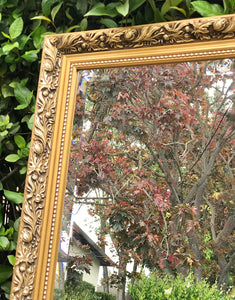 (SOLD) GORGEOUS High-End Modern French Country Bevelled Mirror with Beautiful Details imported from UK!!! 34X22