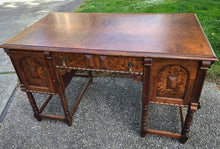 Load image into Gallery viewer, (SOLD) GORGEOUS 1930s Antique Desk with Beautiful Details and Hardware in Excellent Condition!!! 50W 30H 27D