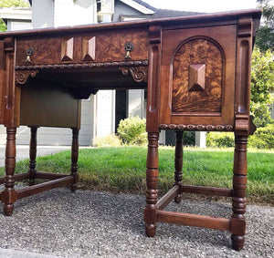 (SOLD) GORGEOUS 1930s Antique Desk with Beautiful Details and Hardware in Excellent Condition!!! 50W 30H 27D