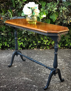 (SOLD) Gorgeous Modernized 1920s Victorian Table/Entryway/Console/Desk/Sofa Table with Beautiful Details!!! 40X29X14