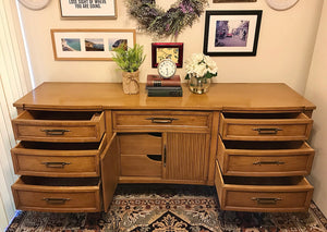 (SOLD) Gorgeous BARGAIN Mid-Century Modern Dresser and Chest of Drawers. Beautifully Designed and Heavy Duty Solid Wood!!