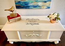 Load image into Gallery viewer, (SOLD) GORGEOUS Newly Upholstered-ReDesigned 1930s Jacoabean Chest/Bed-End/Entryway Bench. Perfect Modernized Vintage Piece any spot in your Nest!!