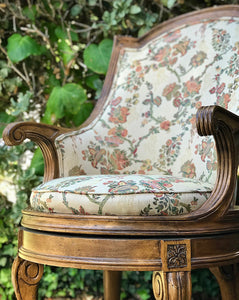 (SOLD) Stunning Set of Vintage Victorian Accent/Decorative Swivel Chairs with Gorgeous Design and Details!! BEAUTIES!!
