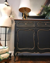 Load image into Gallery viewer, (SOLD) Stunning Extra Large Vintage French Country Credenza/Buffet/Media/Dresser/Entryway with Gorgeous Details and Hardware!!