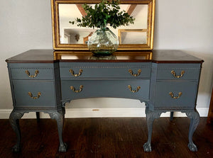 (SOLD) GORGEOUS and Newly ReDesigned 1940s Victorian Clawfoot Sideboard/Buffet/Entryway/Console in Superb Condition!!
