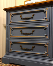 Load image into Gallery viewer, (SOLD) Gorgeous ReDesigned/Modernized Set of High-End Stanley Sienna Dresser and 2 Nightstands with Beautiful Details and Hardware!!