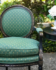 (SOLD) Stunning Vintage (3pc Set) French-Victorian Decorative/Accent Chairs and Round Table with Gorgeous Details