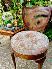 Load image into Gallery viewer, (SOLD) Gorgeous Vintage French Victorian Parlor Chair and Marble Top Side Table with Beautiful Details in Excellent Condition!!!