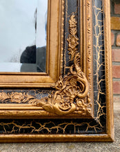 Load image into Gallery viewer, (SOLD) Stunning Extra Large French Bevelled Black and Gold Floor/Wall Decorative Mirror with Gorgeous Details is indeed Beauty & Class!!!