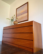 Load image into Gallery viewer, (SOLD) Simply Beautiful 4PC Danish-Scandanavian Teak Mid Century Modern Dresser, Chest and 2 Nightstands in Superb Condition. Perfect Clean Line Imported Danish MCM for Minimalist and Wood Lover!!