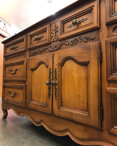 (SOLD) Gorgeous Vintage High-End Stanley French Country Dresser/Buffet/Media/Entryway with Beautiful Details and Hardware!!!