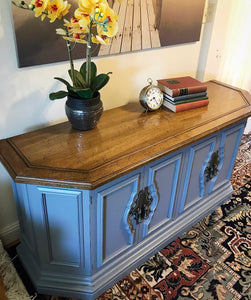 (SOLD) Beautiful Versatile and Fully Functional Buffet-Media-Entryway-Credenza Table in Excellent Condition!! 60W 28H 18D