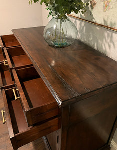 (SOLD) GORGEOUS Restoration Hardware inspired Modern-Rustic Buffet/Credenza/Entryway/Console/Media in Superb Condition. Perfect Versatile ReDesigned Rustic BEAUTY for your Nest!!
