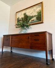 Load image into Gallery viewer, (SOLD) Simply Beautiful Mid Century Modern Danish Credenza/Media/Entryway/Sofa Table/Buffet/Storage Cabinet. Perfect Versatile Piece MCM for Minimalist and Wood Lover!!!