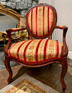 (SOLD) Gorgeous Vintage French Louis XV Style Decorative Chair in Excellent Condition. Comfy, Sturdy, Well Kept and Beautiful!!