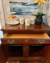 Load image into Gallery viewer, (SOLD) Gorgeous High-End Harden Coffee-Snack Bar Table/Sideboard Buffet/Entryway/Media/Corner Storage (with wheels!) in Excellent Condition.!!