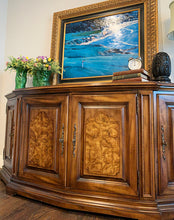 Load image into Gallery viewer, (SOLD) Gorgeous High-End Vintage Century Buffet/Credenza/Entryway/Media with Beautiful Burl Wood and Original Hardware!!