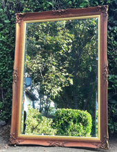 Load image into Gallery viewer, (SOLD) Gorgeous Vintage French Country Decorative Mirror with Beautiful Handcarved Rose Details and Bevelled Glass!! 59X35