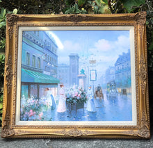Load image into Gallery viewer, (SOLD) Gorgeous Vintage French-Victorian Oil Painting with Stunning French Floral Wood Detail Frames in Excellent Condition!!