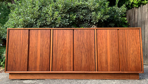 (SOLD) Beautiful DANISH TEAK MID CENTURY MODERN CREDENZA-MEDIA-BUFFET!! Perfect for MINIMALIST and WOOD LOVER!!!