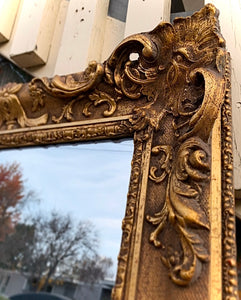 (SOLD) Stunning Antique French-Victorian Extra Large Decorative Mirror with Gorgeous Details and Excellent Condition!!! Perfect Antique Accent Piece any room in your Nest!!!